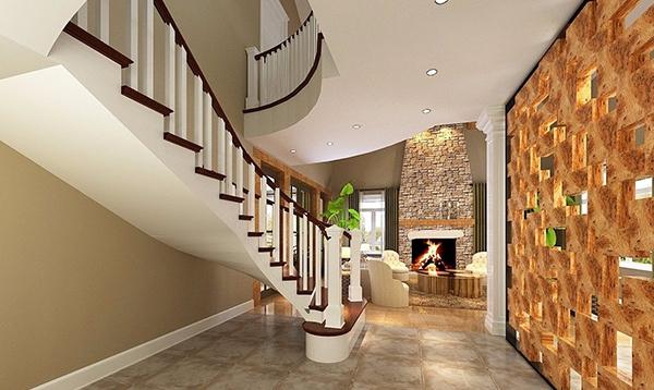美式风格楼梯案例